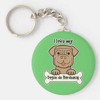 I Love My Dogue de Bordeaux Keychain