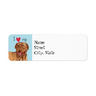 I Love my Dogue de Bordeaux Label