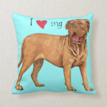 I Love my Dogue de Bordeaux Throw Pillow