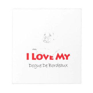 I love my Dogue de sketch Bordeaux Notepad