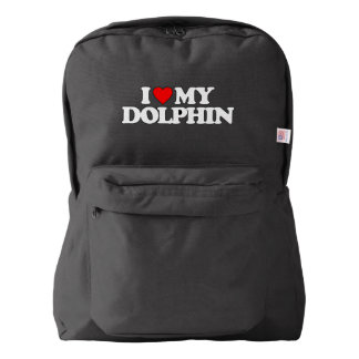 I LOVE MY DOLPHIN AMERICAN APPAREL™ BACKPACK