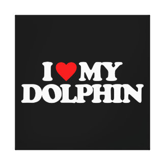 I LOVE MY DOLPHIN CANVAS PRINT
