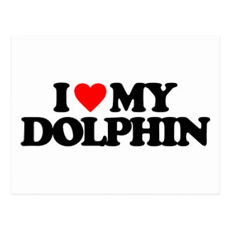 I LOVE MY DOLPHIN POST CARD