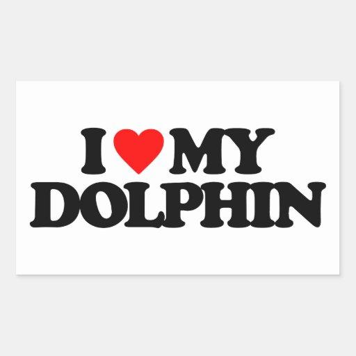 I LOVE MY DOLPHIN STICKERS