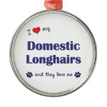 I Love My Domestic Longhairs (Multiple Cats) Ornaments