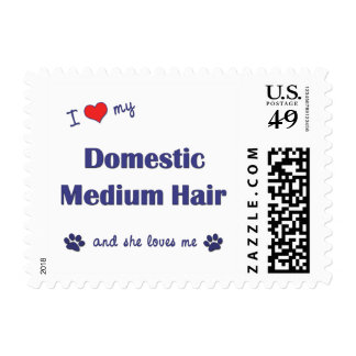 I Love My Domestic Medium Hair (Female Cat) Postage