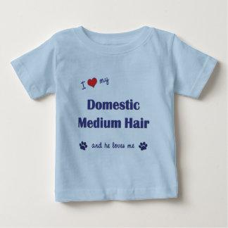 I Love My Domestic Medium Hair (Male Cat) Baby T-Shirt