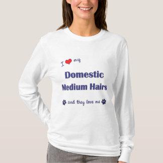 I Love My Domestic Medium Hairs (Multiple Cats) T-Shirt