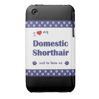 I Love My Domestic Shorthair (Male Cat) iPhone 3 Case