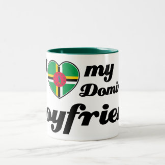 I love my Dominican Boyfriend Two-Tone Coffee Mug