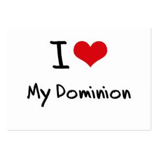 I Love My Dominion Business Card Templates