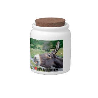 I Love My Donkey Funny Mule Farm Animal Candy Jar