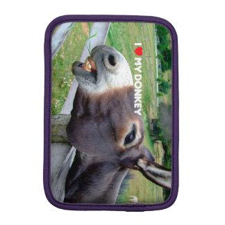 I Love My Donkey Funny Mule Farm Animal iPad Mini Sleeve