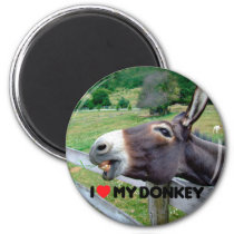 I Love My Donkey Funny Mule Farm Animal Magnet