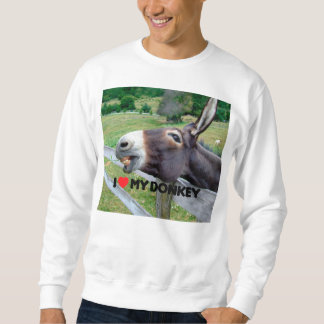 I Love My Donkey Funny Mule Farm Animal Sweatshirt