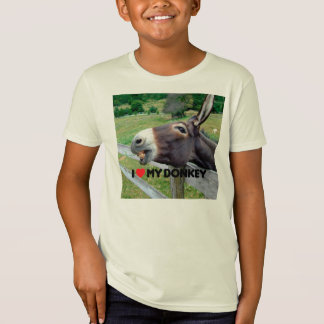I Love My Donkey Funny Mule Farm Animal T-Shirt