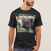 I Love My Donkey Funny Mule Farm Animal T-Shirt