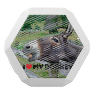 I Love My Donkey Funny Mule Farm Animal White Bluetooth Speaker