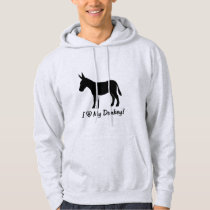 I Love My Donkey in Silhouette Hoodie
