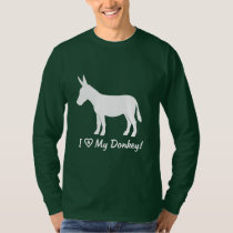 I Love My Donkey in Silhouette T-Shirt