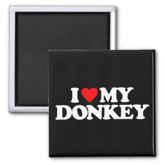 I LOVE MY DONKEY FRIDGE MAGNET