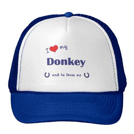 I Love My Donkey (Male Donkey) Hat