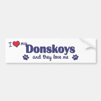 I Love My Donskoys (Multiple Cats) Bumper Sticker