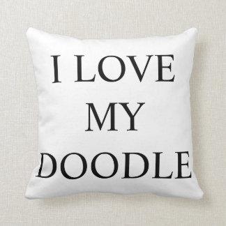 I LOVE MY DOODLE LABRA GOLDEN DOODLE DOG PILLOW