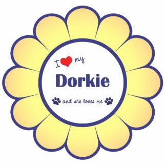 I Love My Dorkie (Female Dog) Acrylic Cut Outs