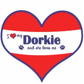 I Love My Dorkie (Female Dog) Cut Outs