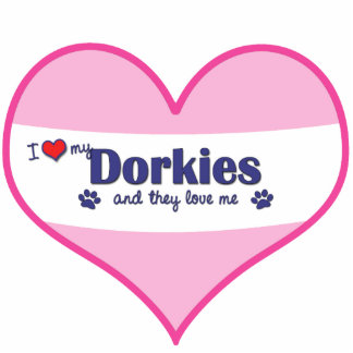 I Love My Dorkies (Multiple Dogs) Photo Cutouts