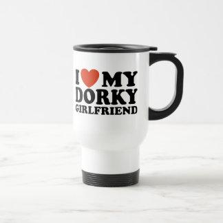 I Love My Dorky Girlfriend Travel Mug