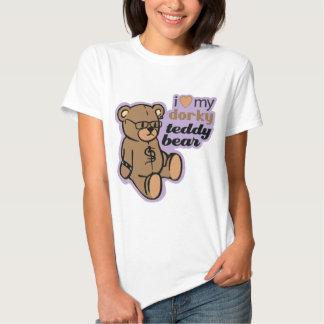 i love my dorky teddy bear tees