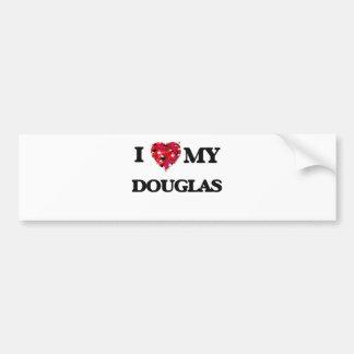 I love my Douglas Car Bumper Sticker