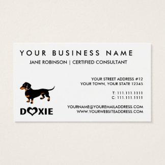 I Love My Doxie Dog - Cute Dachshund Business Card