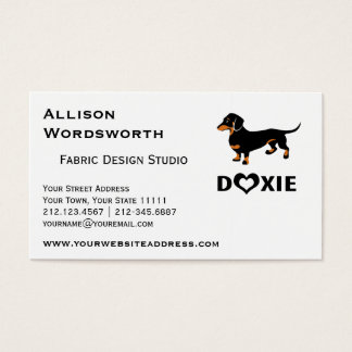 I Love My Doxie Dog - Cute Dachshund Business Card