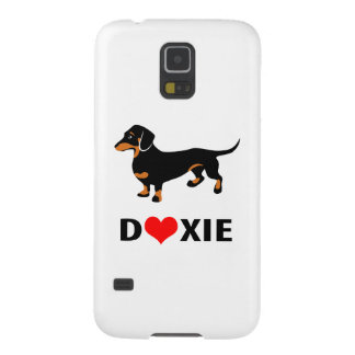 I Love My Doxie Dog - Cute Dachshund with Heart Galaxy S5 Cover