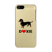 I Love My Doxie Dog - Cute Dachshund with Heart Metallic iPhone SE/5/5s Case