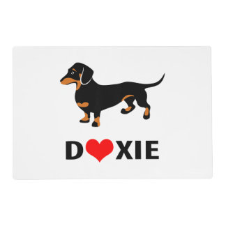 I Love My Doxie Dog - Cute Dachshund with Heart Placemat