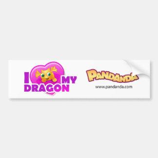 I love my Dragon Bumper Sticker Car Bumper Sticker