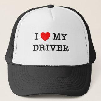 I Love My DRIVER Trucker Hat