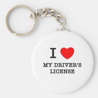 I Love My Driver's License Keychain