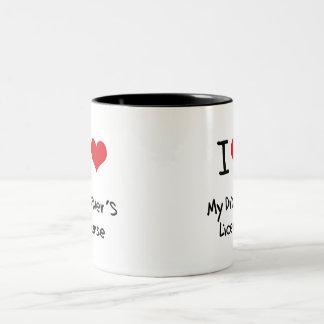 I Love My Driver's License Two-Tone Coffee Mug
