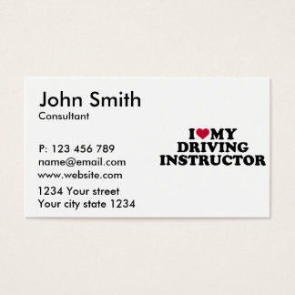 I love my driving instructor business card