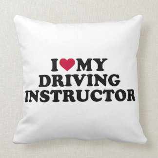 I love my driving instructor throw pillow