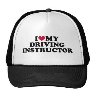 I love my driving instructor trucker hat