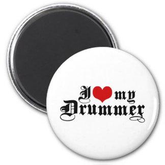 I Love My Drummer 2 Inch Round Magnet