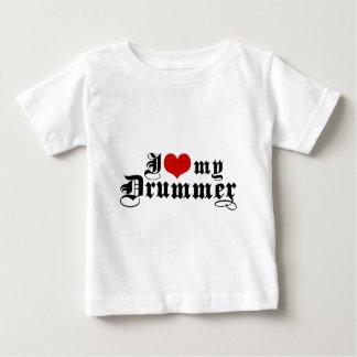 I Love My Drummer Baby T-Shirt