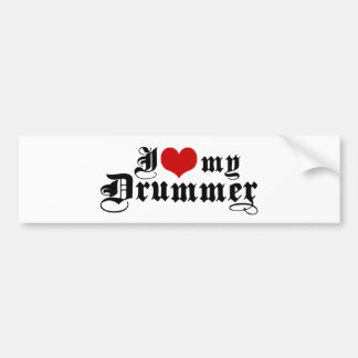 I Love My Drummer Bumper Sticker