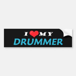 I Love My Drummer Bumper Stickers